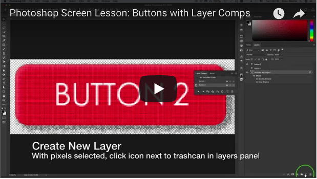 Using Layer Comps for Button Design